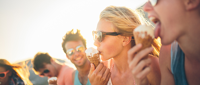 people enjoying ice cream, at a private party, wedding or event in Sydney